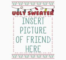 Ugly Christmas Sweater Kids Tee