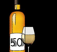 50 years bottle of wine by maydaze