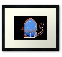 Our Hero Approaches (Black Background) Framed Print