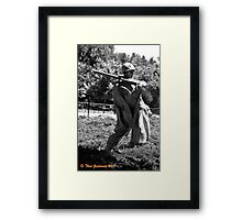 Machine gunner Framed Print