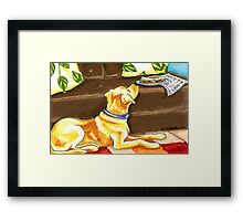 Temptations | Yellow Lab Framed Print