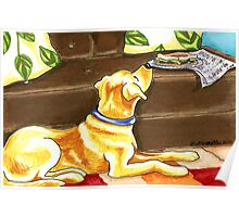 Temptations | Yellow Lab Poster