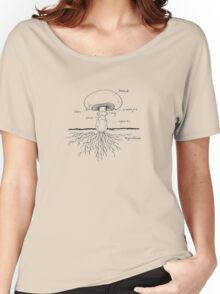 Mushroom Graphic Tee Women's Relaxed Fit T-Shirt
