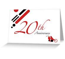 20th Anniversary Greeting Card