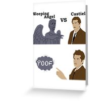 Weeping Angel VS Castiel Greeting Card