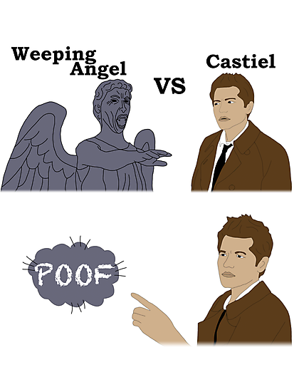 Weeping Angel VS Castiel by Becca C. Smith