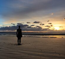 Crosby Beach Iron Man Another Place by Paul Madden