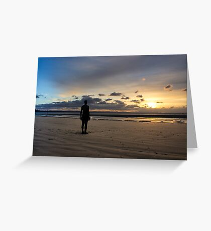 Crosby Beach Iron Man Another Place Greeting Card