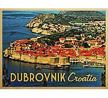 Vintage Dubrovnik Croatia Photographic Print
