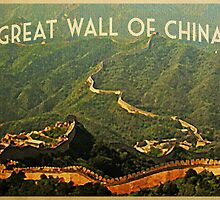 Vintage Great Wall Of China by House Of Flo