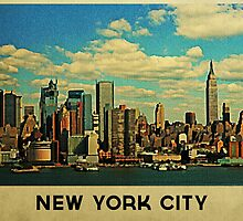 Vintage New York City Skyline by House Of Flo
