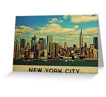 Vintage New York City Skyline Greeting Card