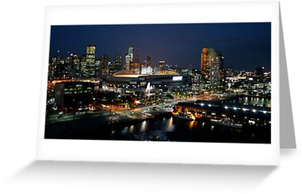 Melbourne at Night by cazzgroves