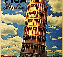 Vintage Tower Of Pisa by House Of Flo