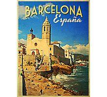 Vintage Barcelona Spain Photographic Print