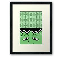 Cartoon Frankenstein Monster Face Framed Print