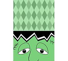 Cartoon Frankenstein Monster Face Photographic Print