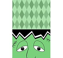 Cartoon Frankenstein Monster Face Photographic Print
