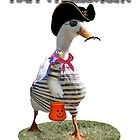 Halloween Pirate Duck  by Gravityx9