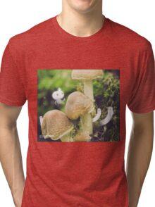 Jumping mushrooms- Wandering forest 8 Tri-blend T-Shirt