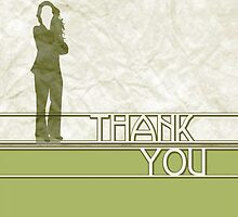 professional thank you card by maydaze
