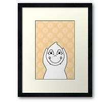Baby Ghost Playing Framed Print