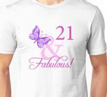 Fabulous 21st Birthday For Girls Unisex T-Shirt