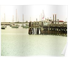 Plymouth Harbor, Massachusetts, New England Poster