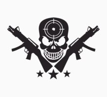 Assault Rifle Gun Skull Target Design by Style-O-Mat