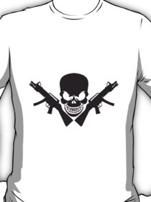 Assault Rifle Gun Skull T-Shirt