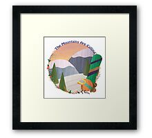 Mountains Are Calling - Snowboard Framed Print