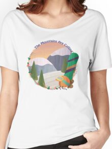Mountains Are Calling - Snowboard Women's Relaxed Fit T-Shirt