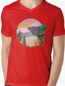Mountains Are Calling - Snowboard Mens V-Neck T-Shirt
