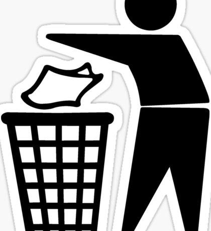 Do Not Litter Symbol Sticker