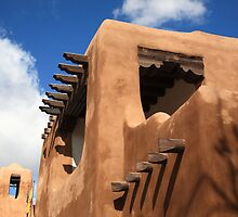 Santa Fe Adobe Building by Frank Romeo