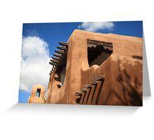 Santa Fe Adobe Building Greeting Card