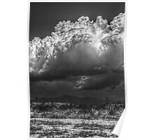 B&W Clouds/Mountain Landscape Poster