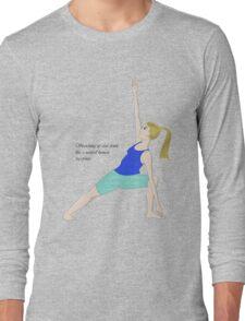 Triangle Posture Long Sleeve T-Shirt