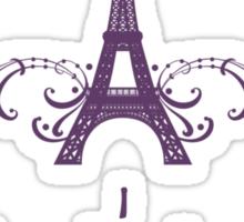 Purple Vintage French Flourish Sticker