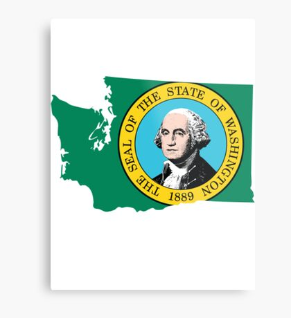 Washington State | SteezeFSC Metal Print