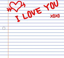 i love you notebook paper by maydaze