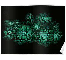 ©DA City Of Jade Fractals Poster