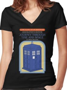 Come Along on an Adventure (Dark Shirt) Women's Fitted V-Neck T-Shirt