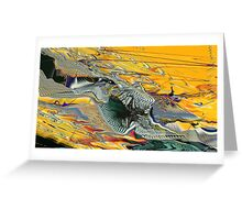 Petrified valley on Mars Greeting Card