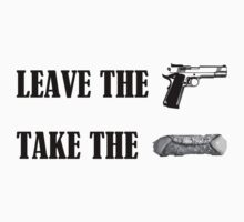 Leave the gun, take the cannoli. T-Shirt