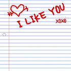 i like you notebook paper by maydaze
