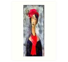 (My funny gallery) Hat..Pashmina..Modì Art Print
