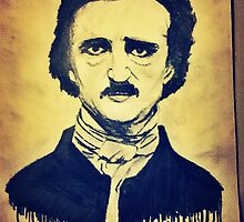 Edgar Allen Poe Charcoal drawing by SumnerLee
