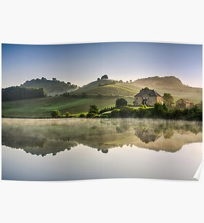 Morning reflections Poster