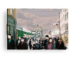 London filled with masks Canvas Print